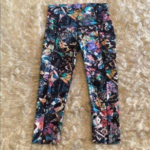 Multicolor Lululemon athletica cropped leggings